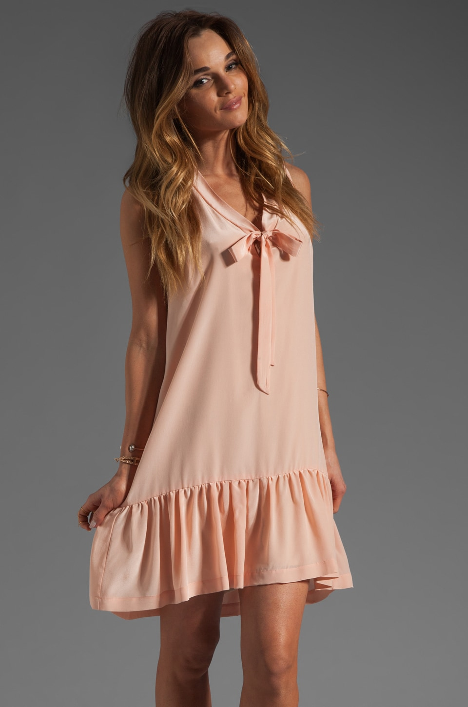 Amanda Uprichard Silk Sophie Dress in Ballet