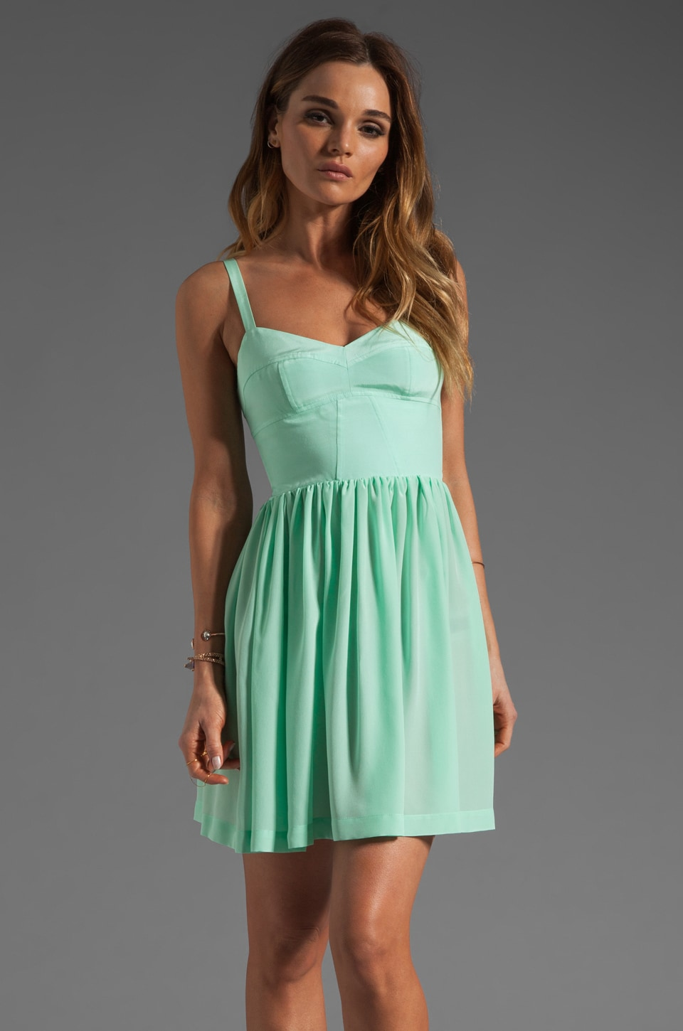 Amanda Uprichard Silk Champagne Dress in Sherbert