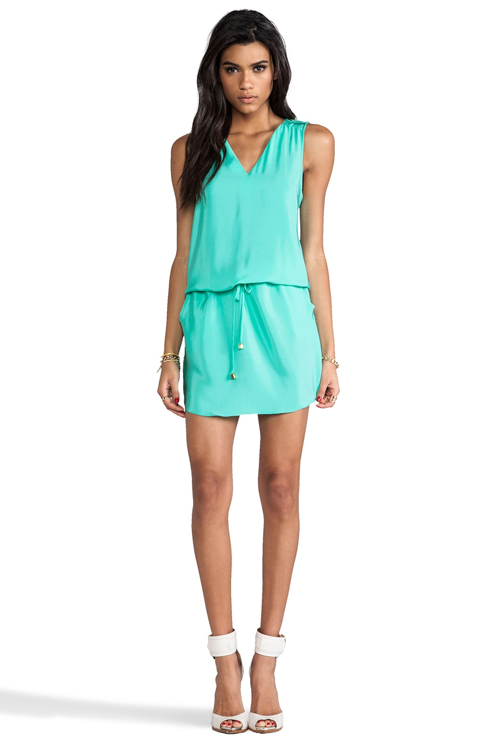 Amanda Uprichard Brittany Dress in Mint