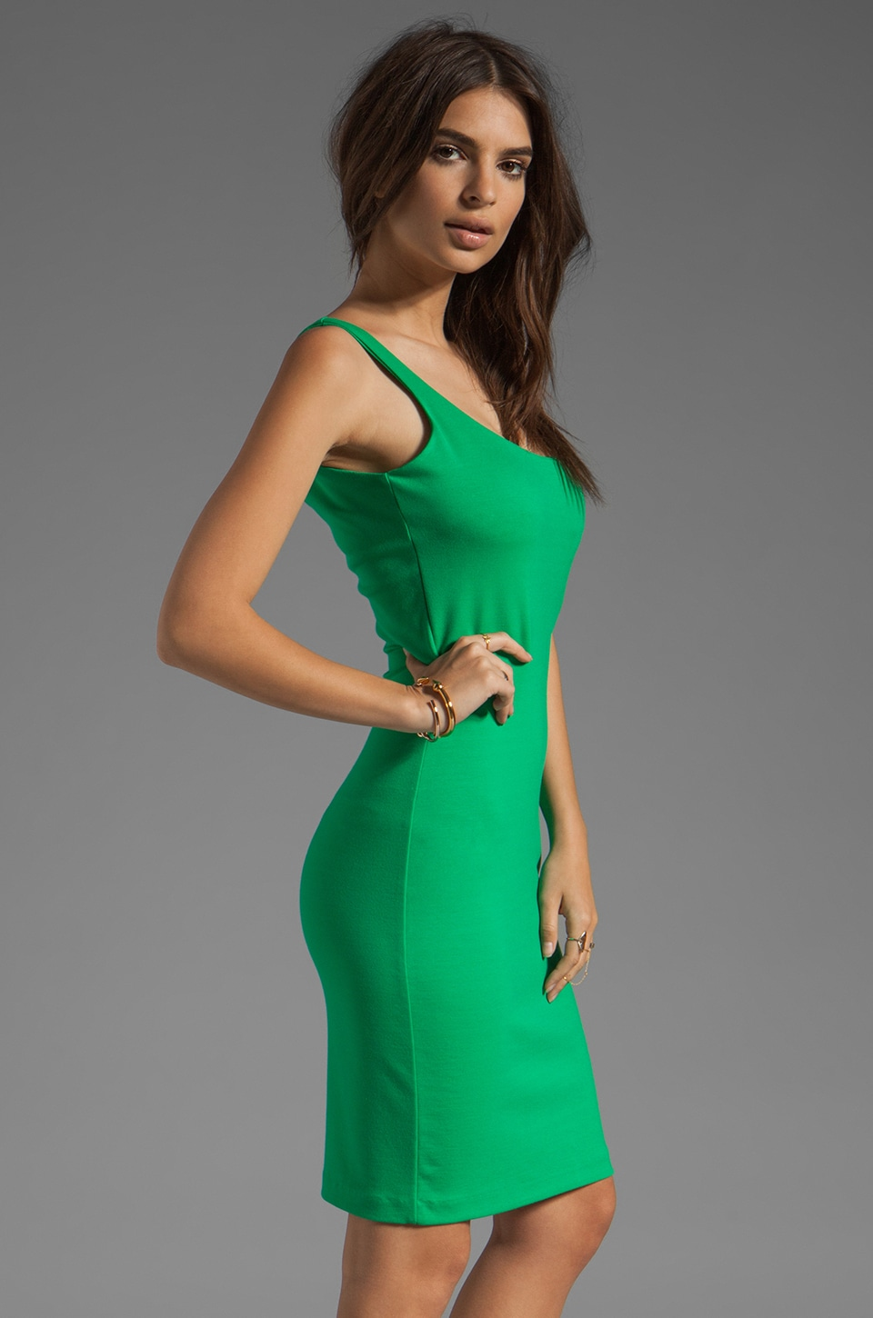 Amanda Uprichard Ponte Mini Tank Dress in Green