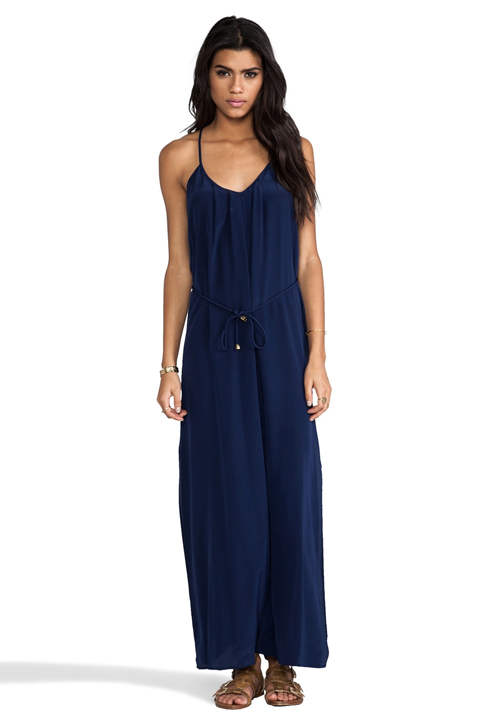 Amanda Uprichard Button Back Maxi in Navy