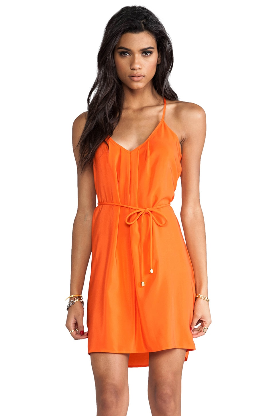 Amanda Uprichard Button Back Dress in Orange