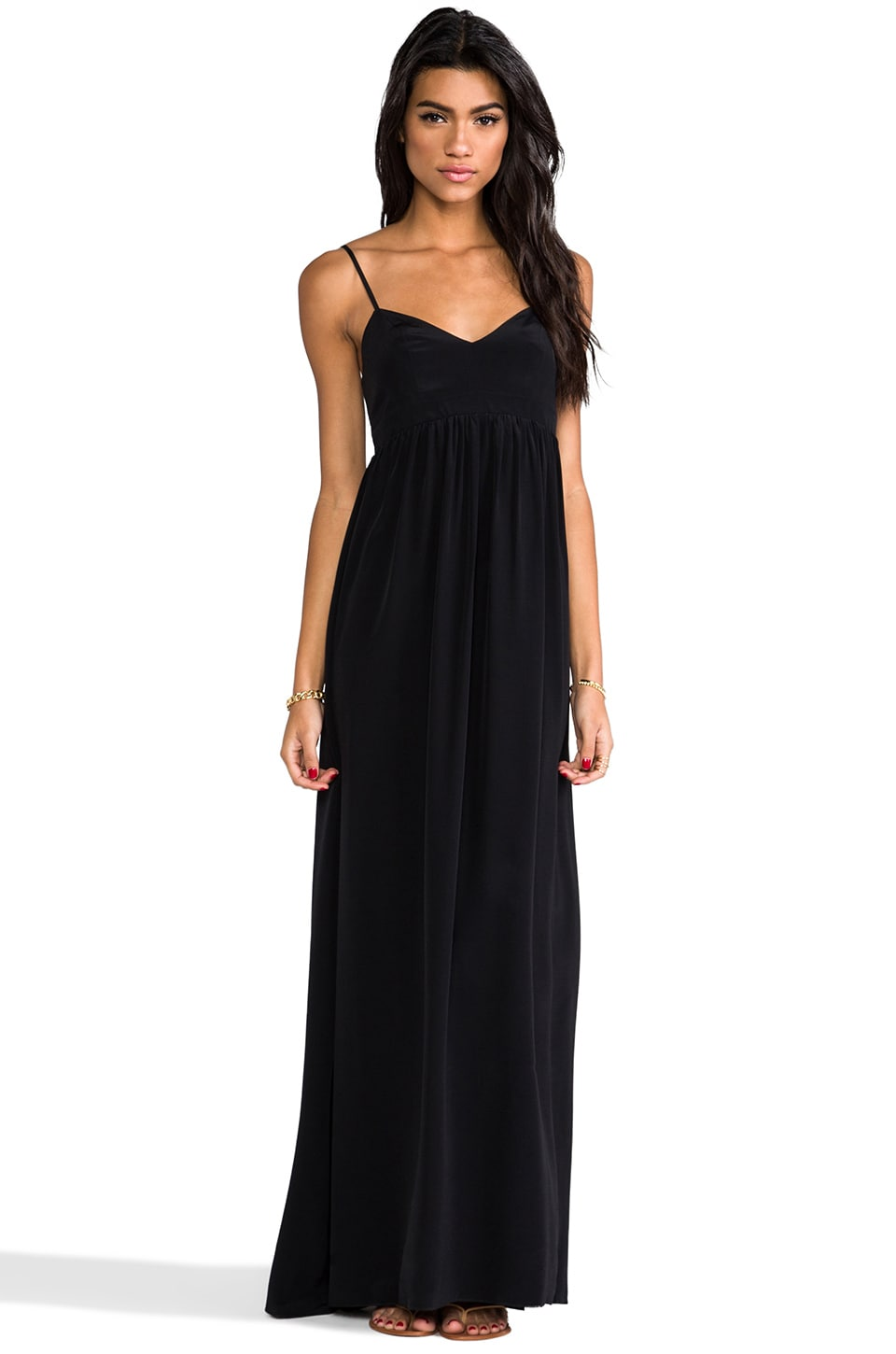 Amanda Uprichard Silk Gown in Black