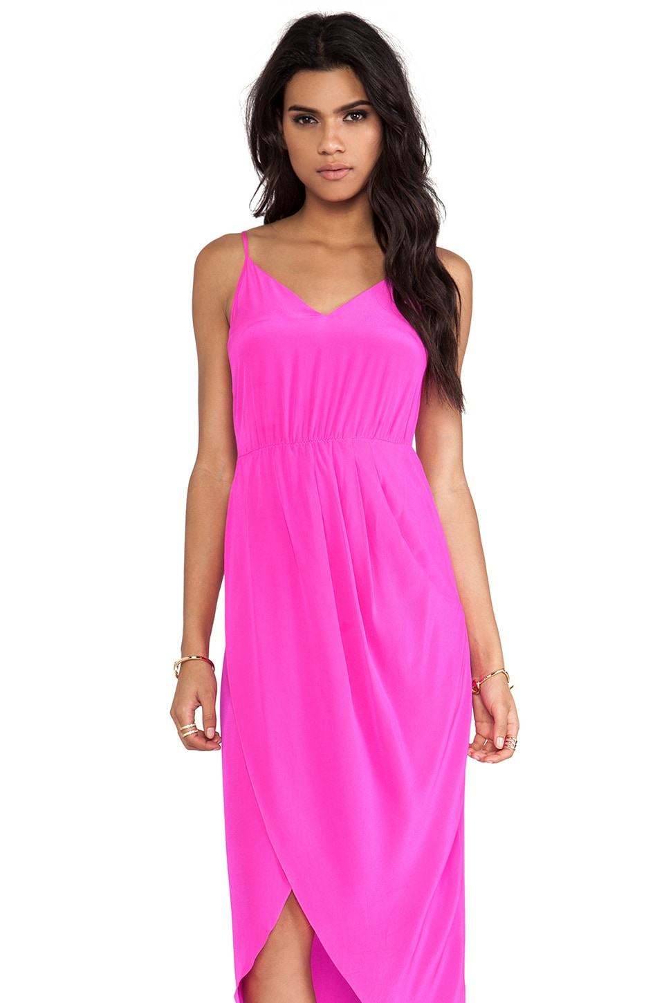 Amanda Uprichard Madison Maxi Dress in Hot Pink