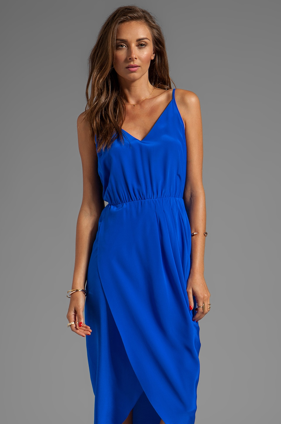 Amanda Uprichard Madison Maxi Dress in Royal