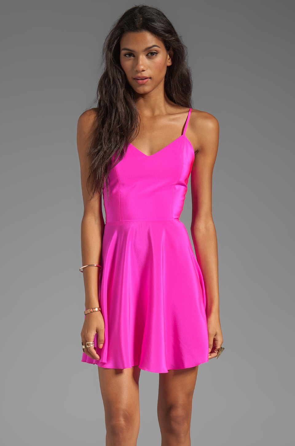 Amanda Uprichard REVOLVE Exclusive Bowery Dress in hot Pink
