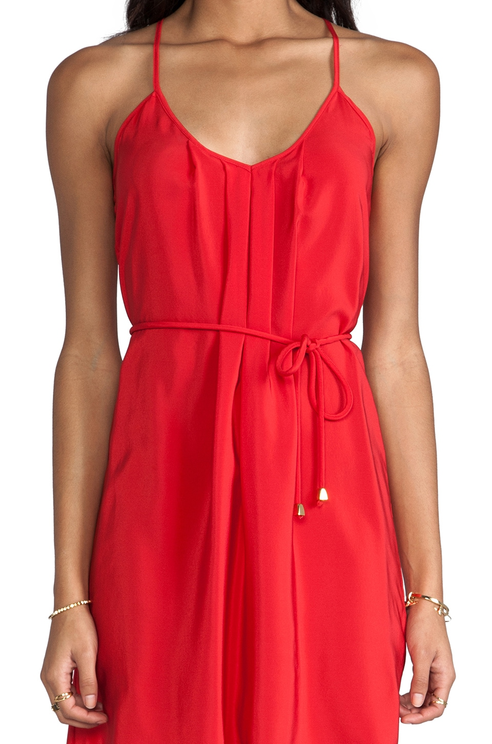 Amanda Uprichard Button Back Dress in Red