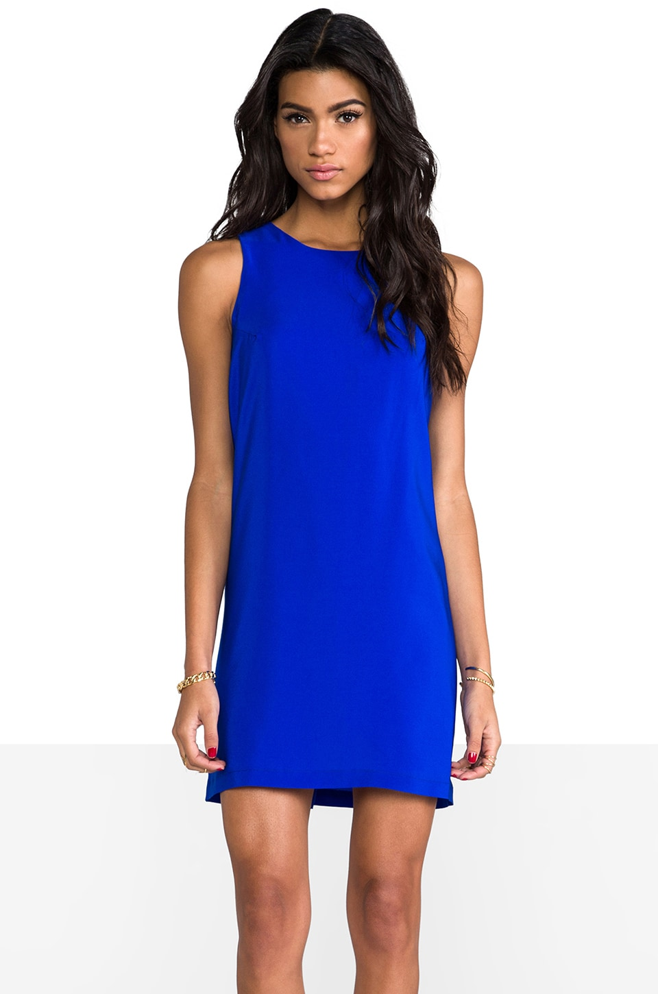Amanda Uprichard Sheath Tank Dress in Royal