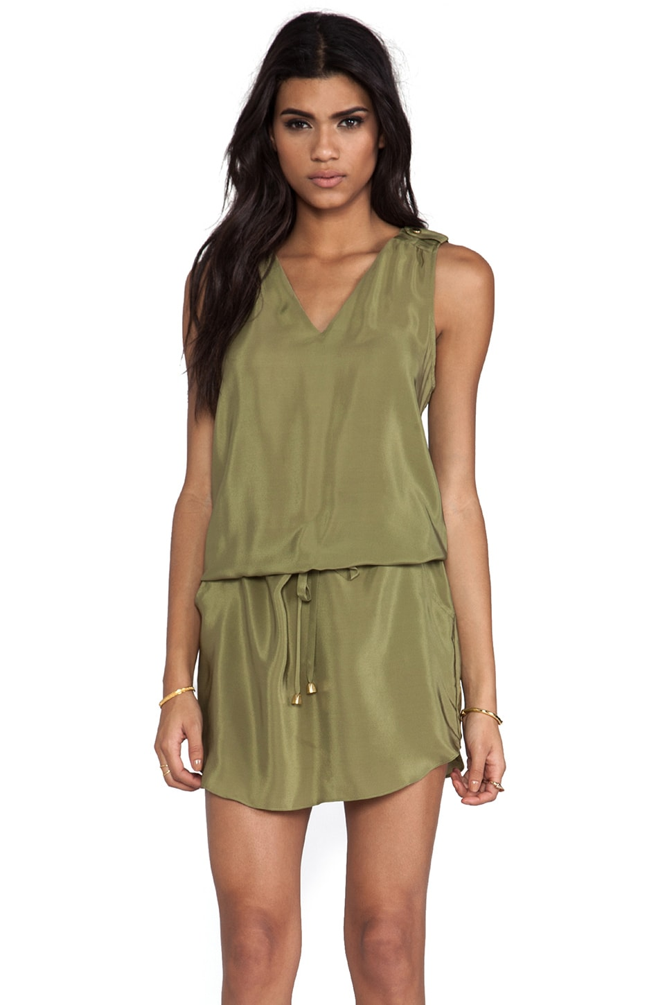 Amanda Uprichard Brittany Dress in Olive