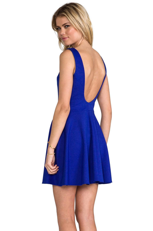 Amanda Uprichard Backless Skater Dress in Nu Blue