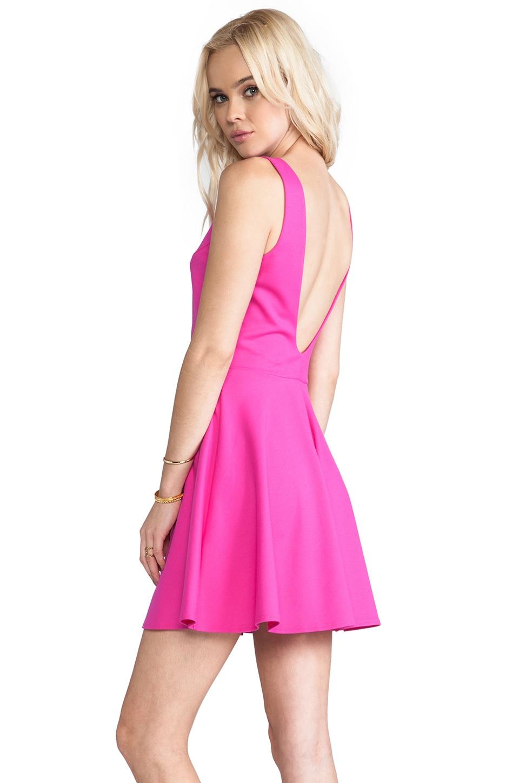 Amanda Uprichard Backless Skater Dress in Hot Pink