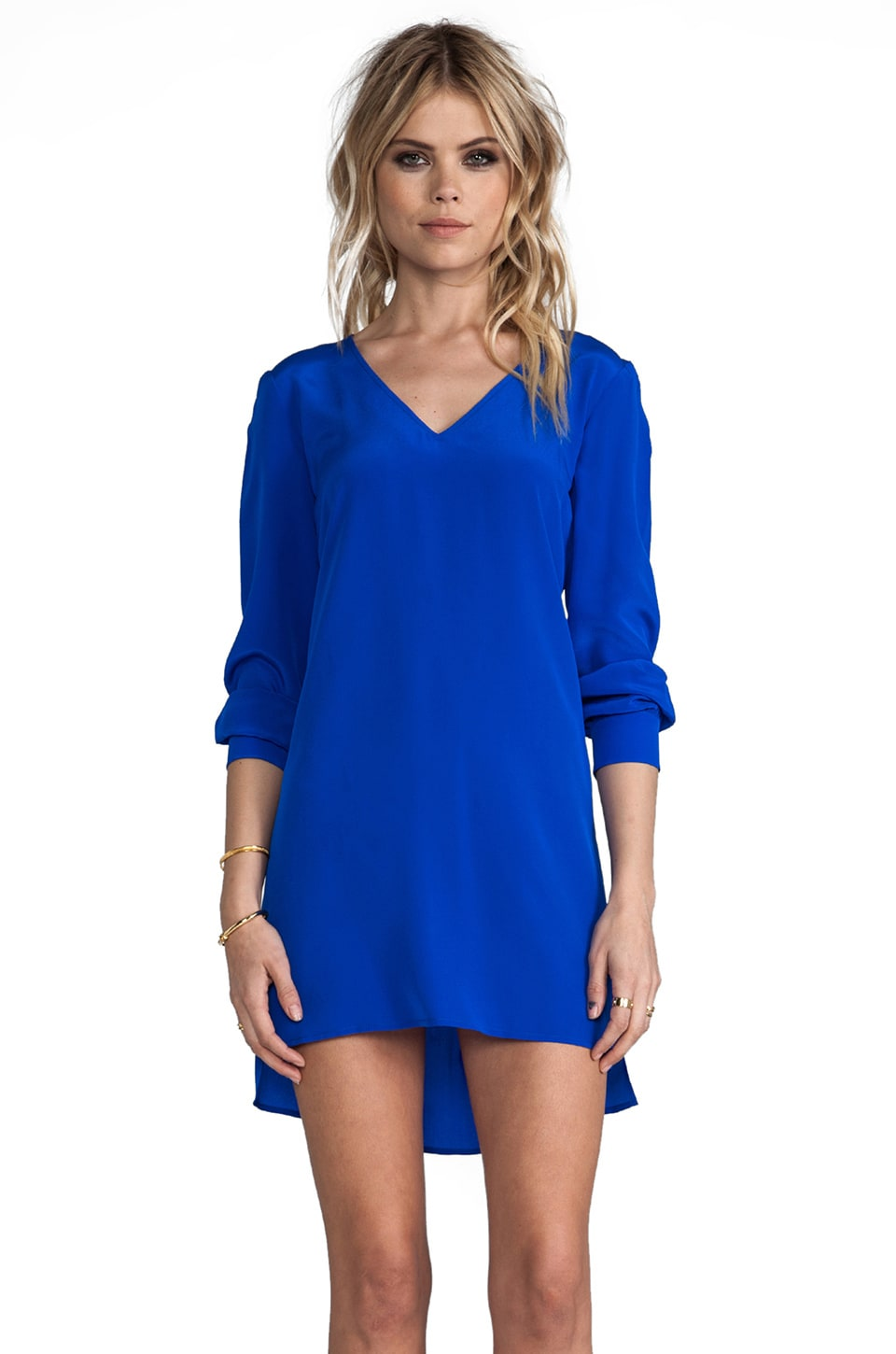 Amanda Uprichard V Neck Dress in Royal