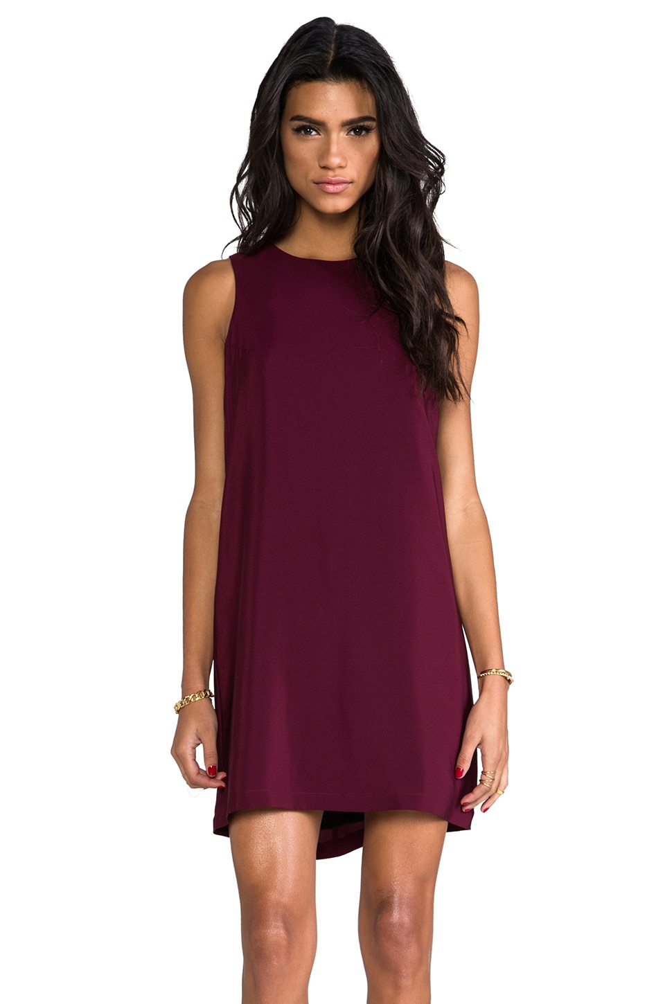 Amanda Uprichard Sheath Tank Dress in Wine