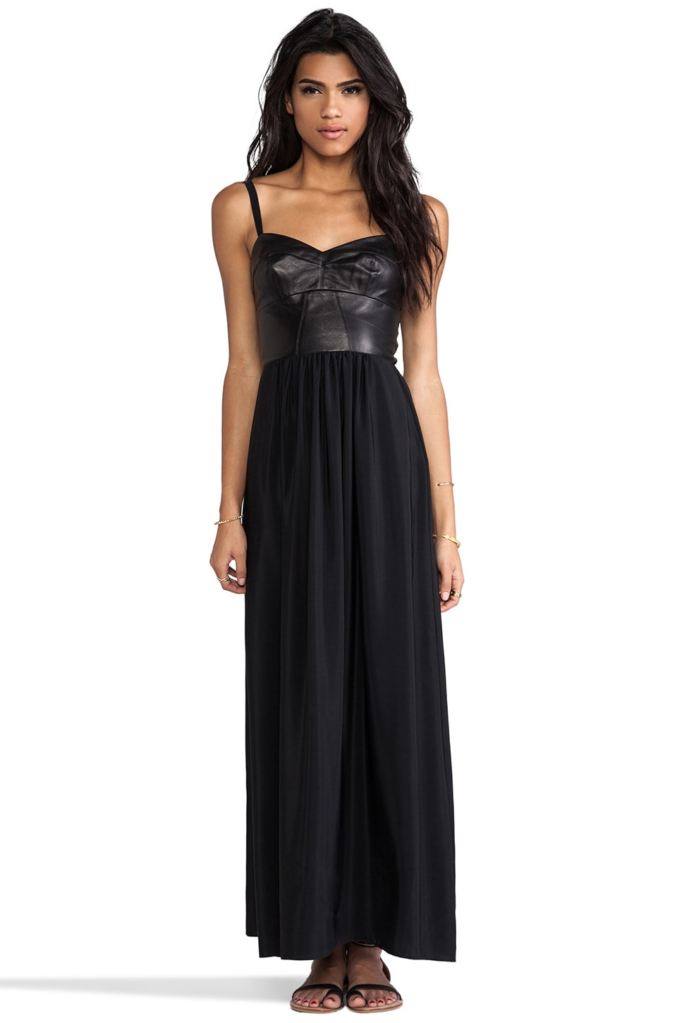 Amanda Uprichard Mojito Maxi Dress in Black