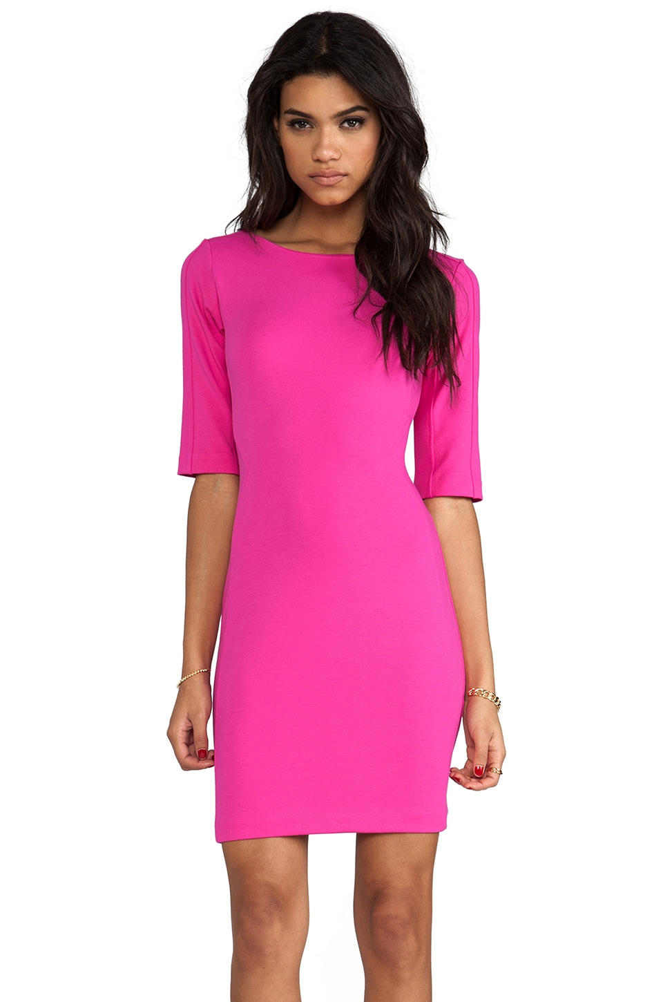 Amanda Uprichard Viva Mini Dress in Hot Pink