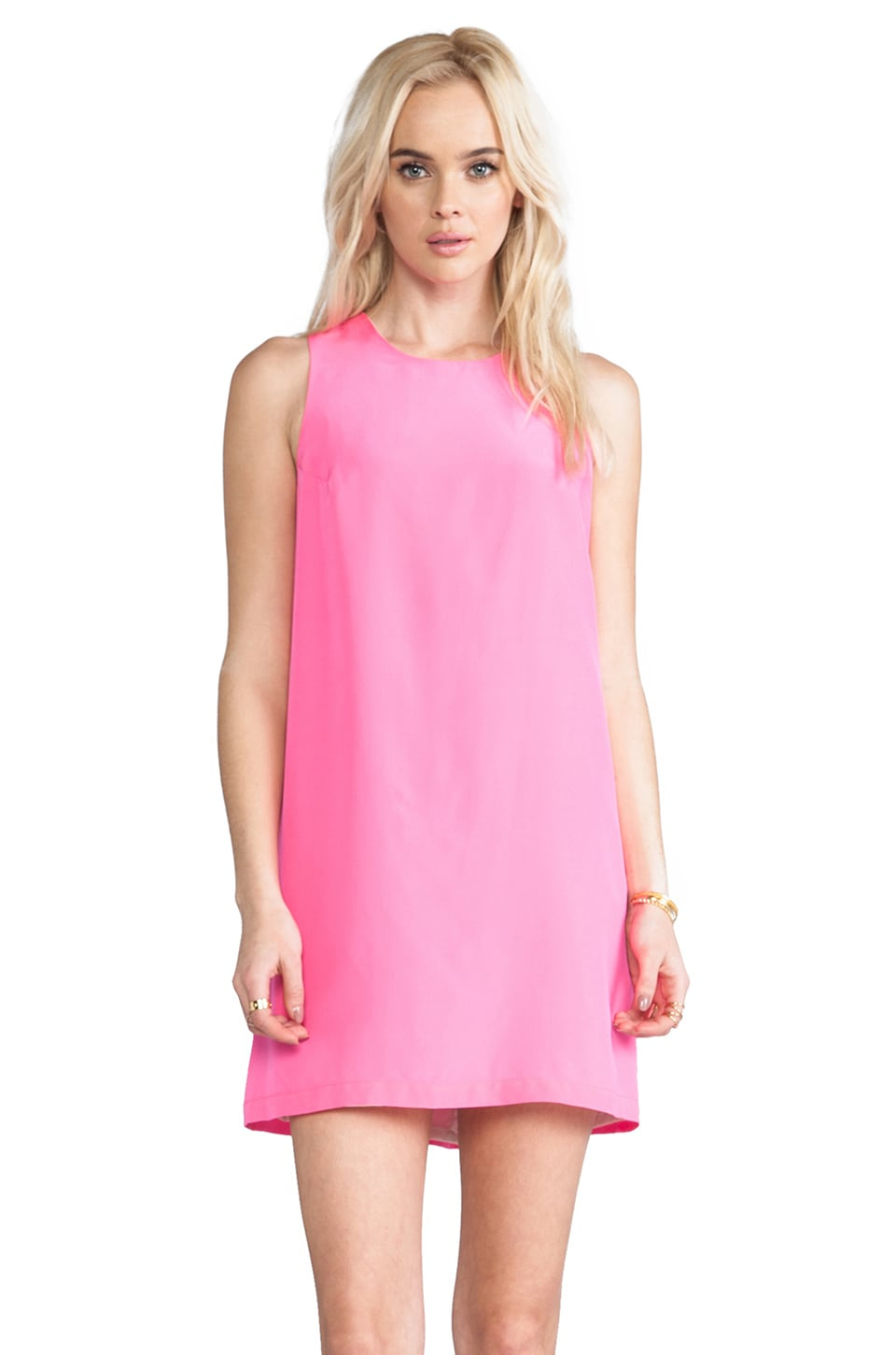 Amanda Uprichard Sheath Tank Dress in Hibiscus