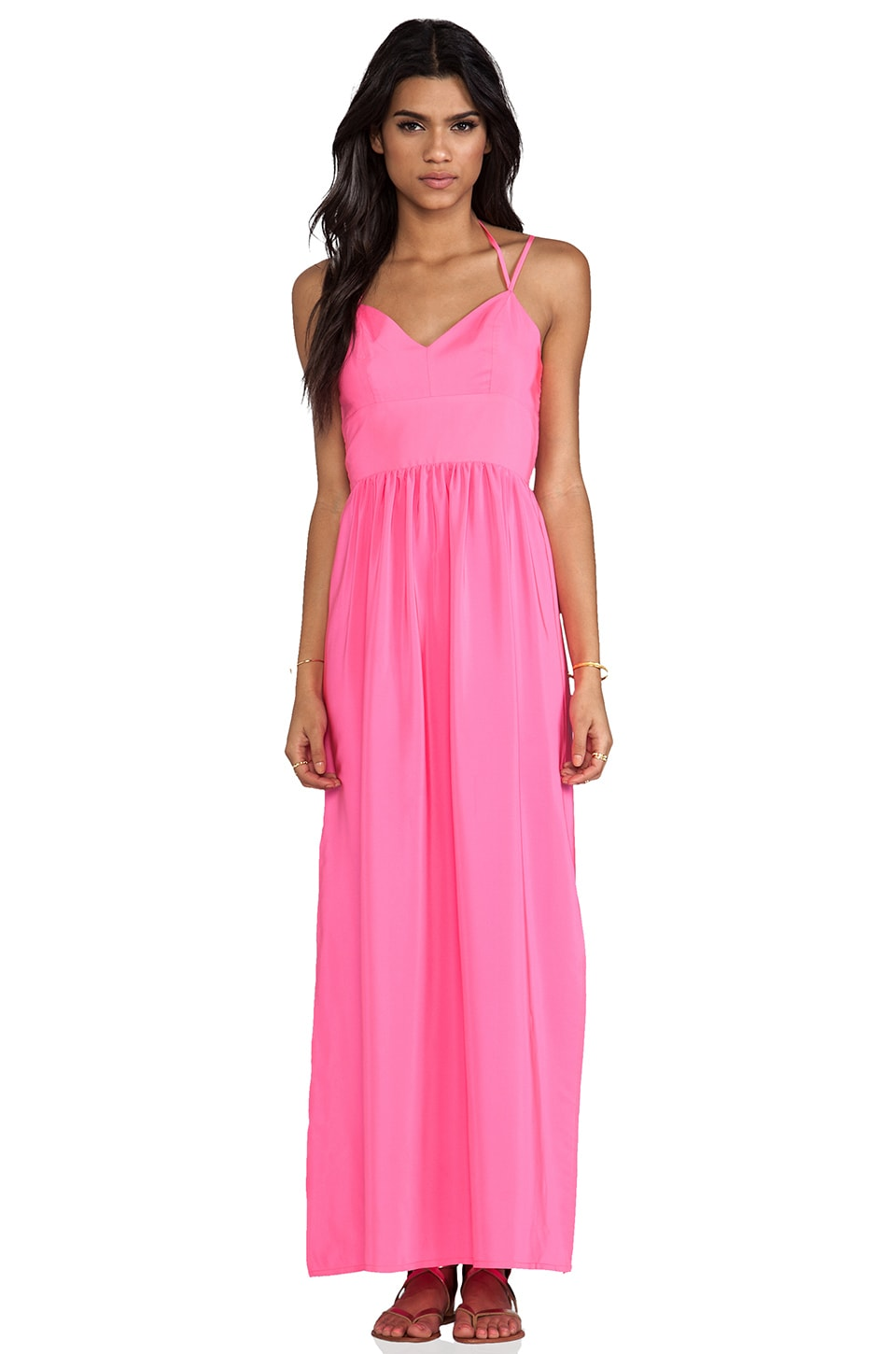 Amanda Uprichard Slit Gown in Hibiscus