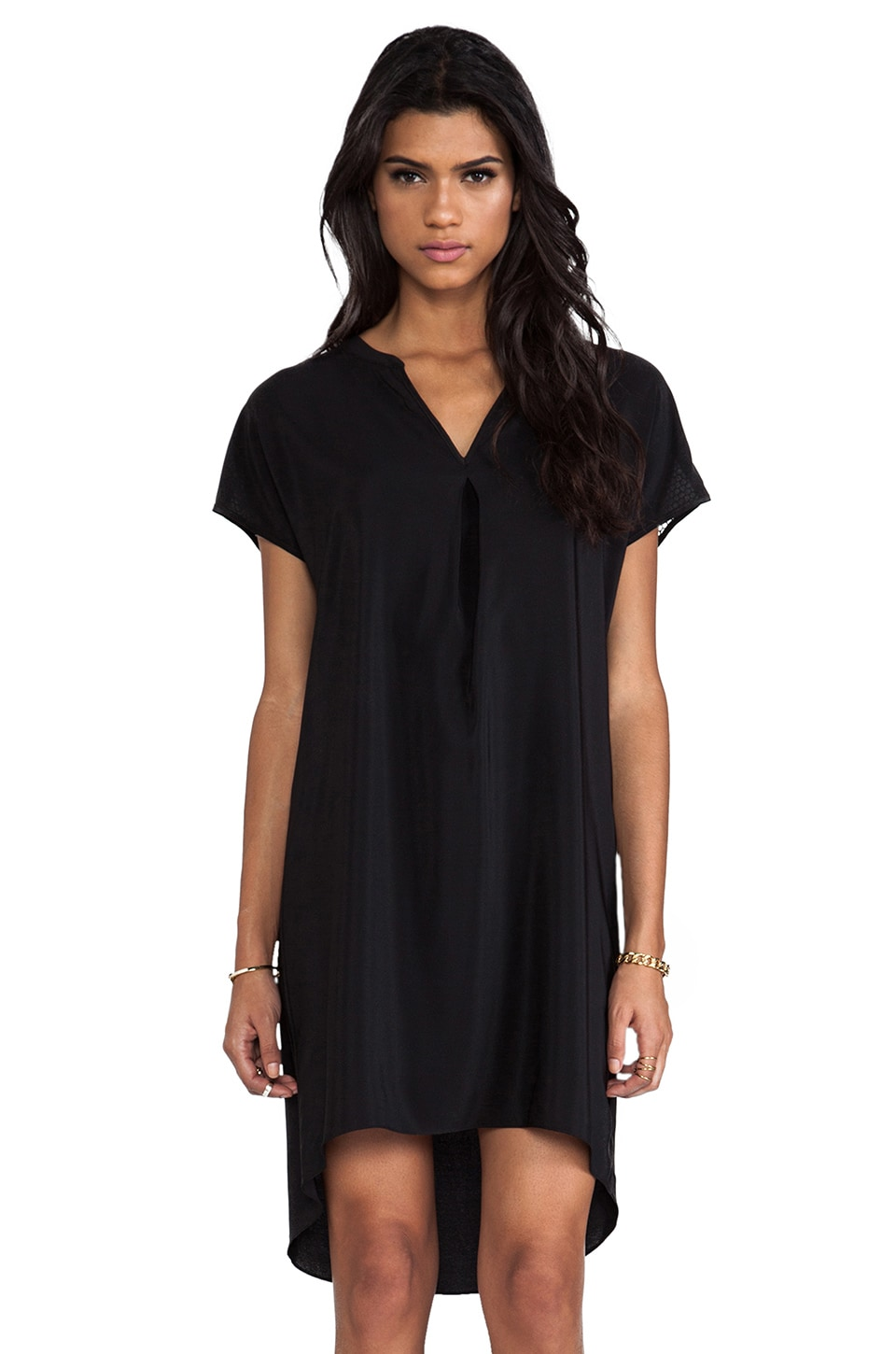 Amanda Uprichard Mesh Forever Dress in Black