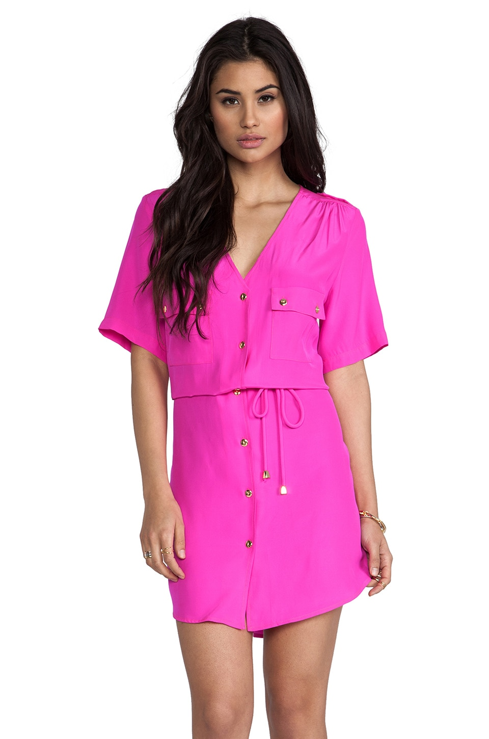 Amanda Uprichard Courtney Dress in Hot Pink