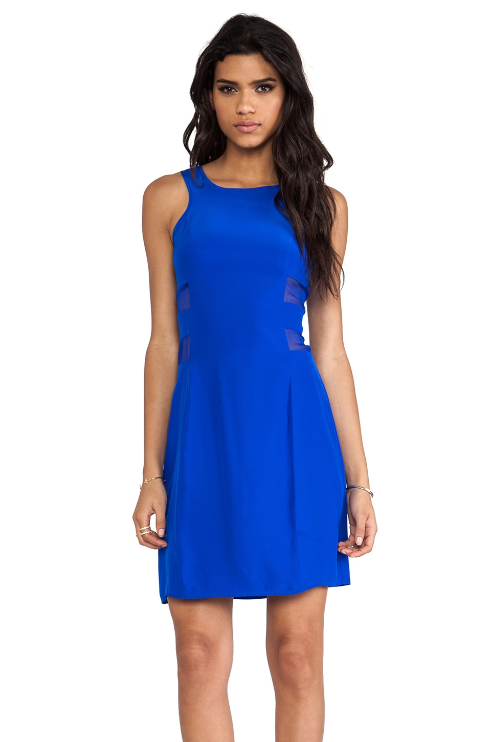 Amanda Uprichard Mesh Sheath Dress in Royal