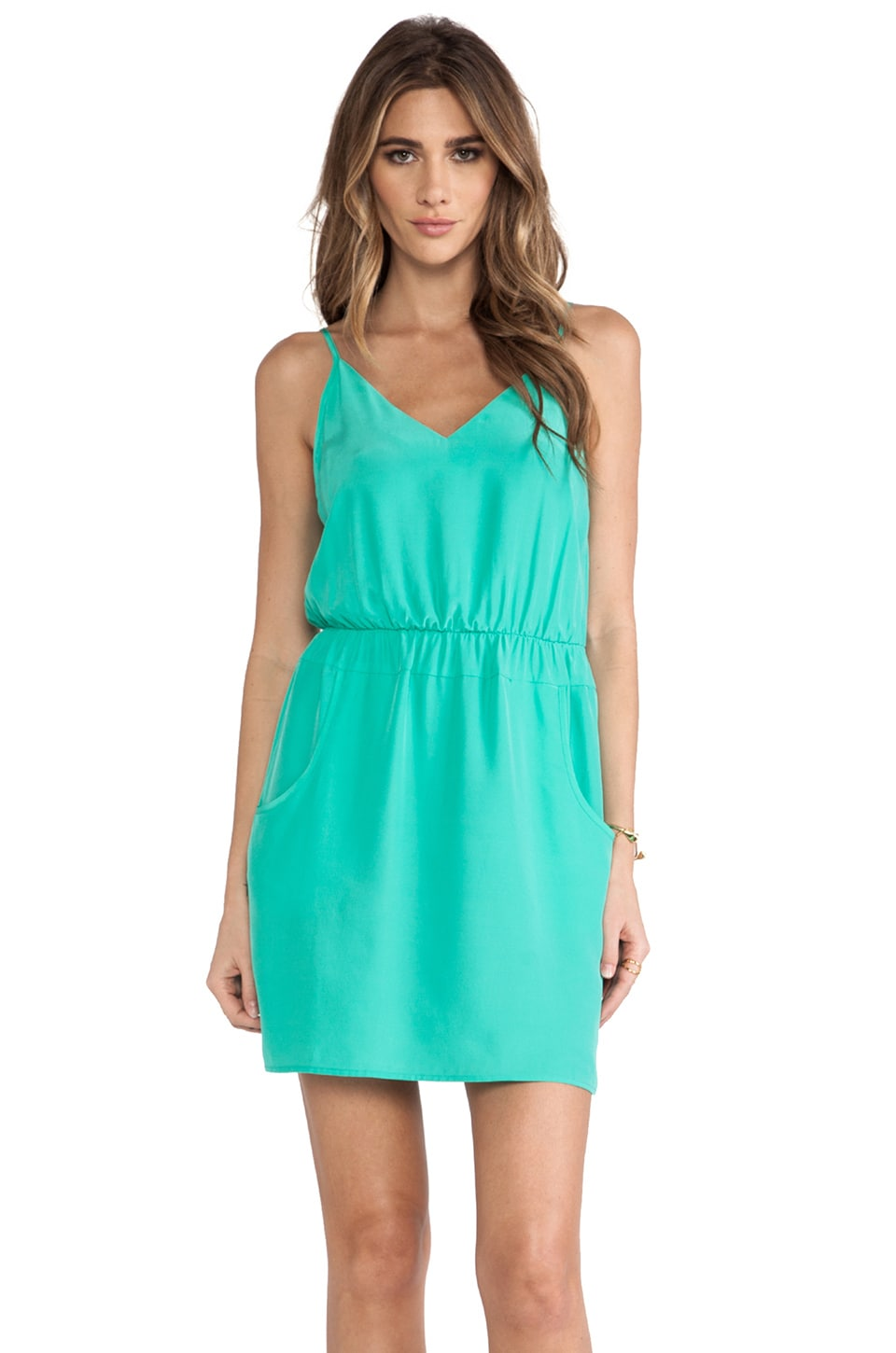 Amanda Uprichard Easy Pocket Dress in Mint
