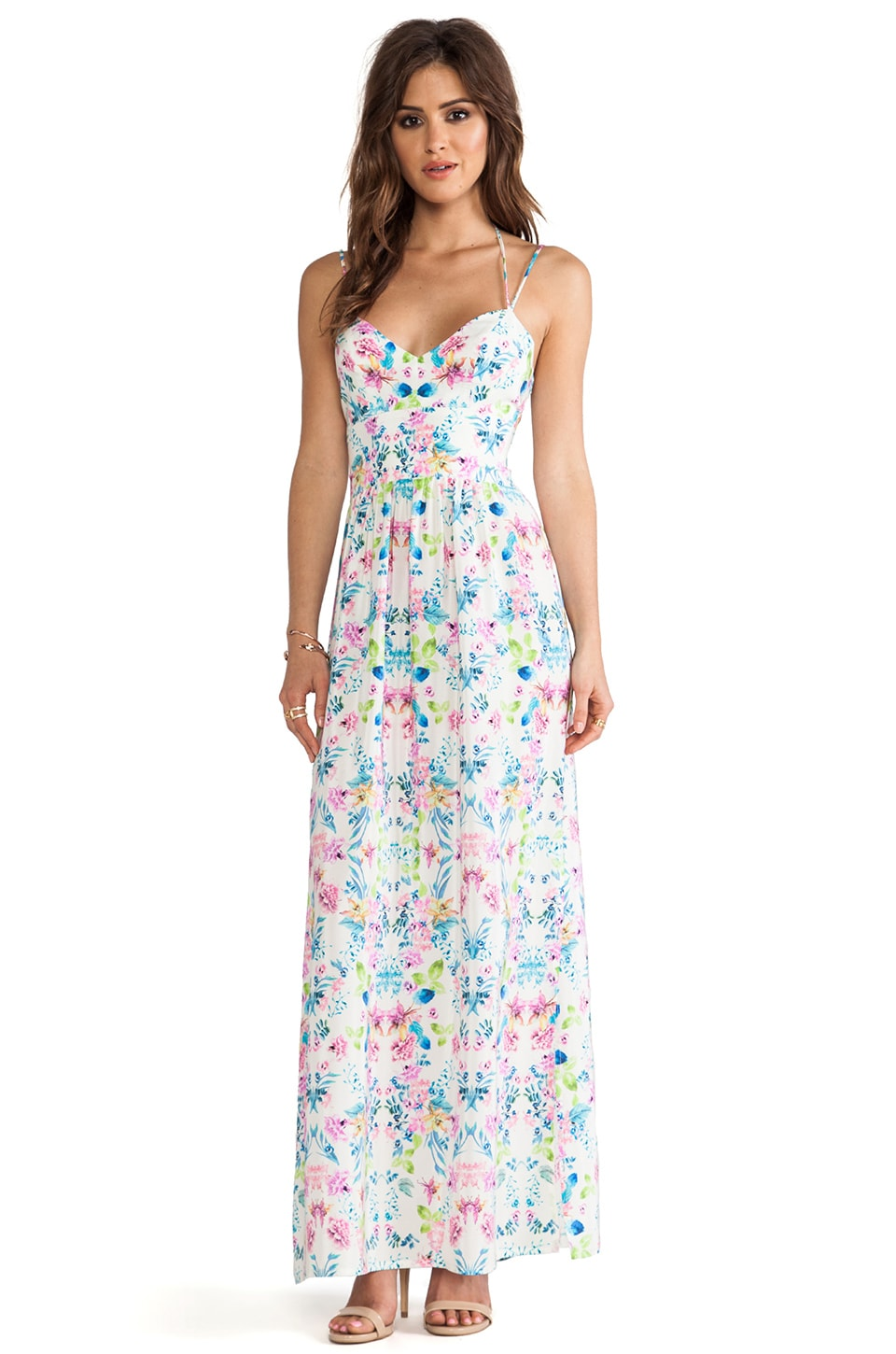 Amanda Uprichard Slit Maxi Gown in Floral