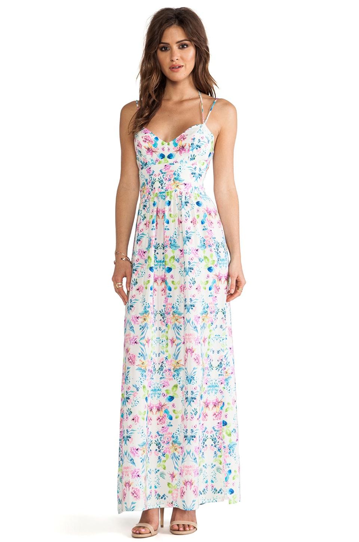 Amanda Uprichard Slit Maxi Gown in Floral