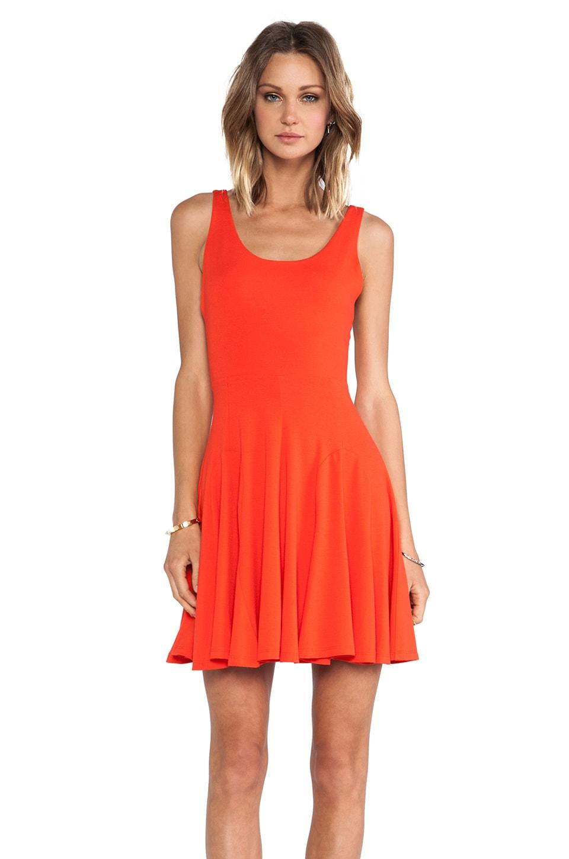 Amanda Uprichard Godet Dress in Persimmon