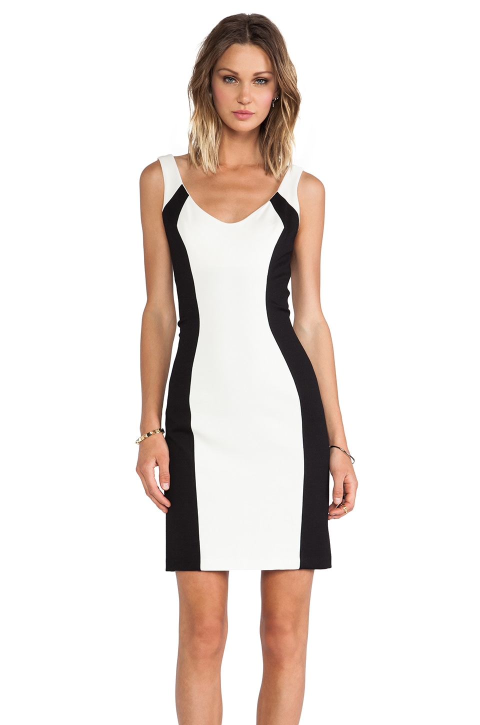 Amanda Uprichard Brancusi Dress in Ivory & Black