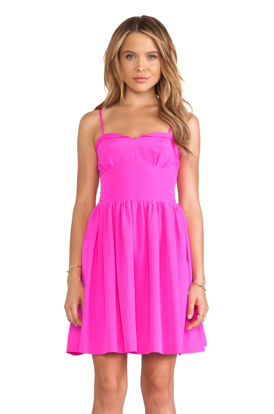 Amanda Uprichard Mimosa Dress in Hot Pink