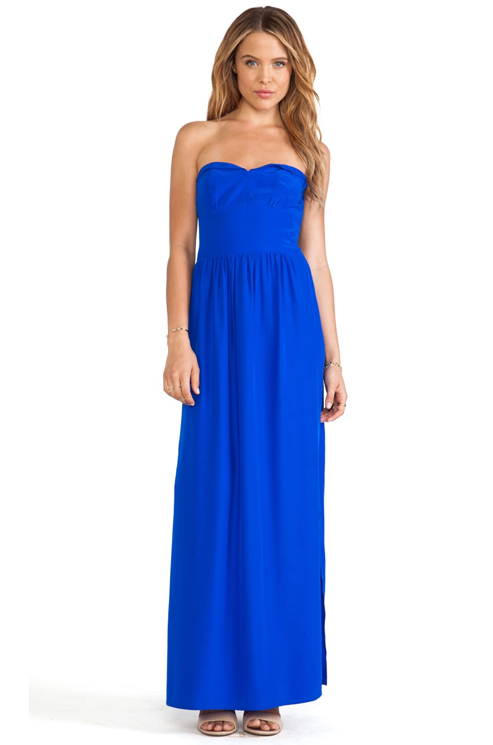 Amanda Uprichard Mimosa Maxi Dress in Royal