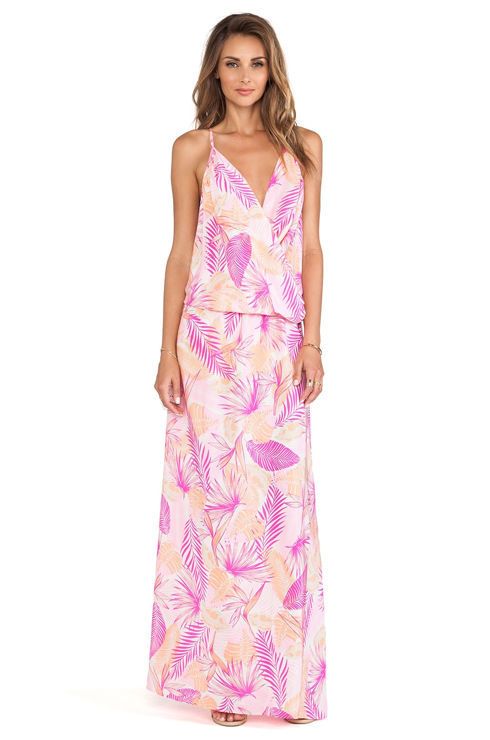 Amanda Uprichard X REVOLVE Summer Maxi Dress in Pink Jungle