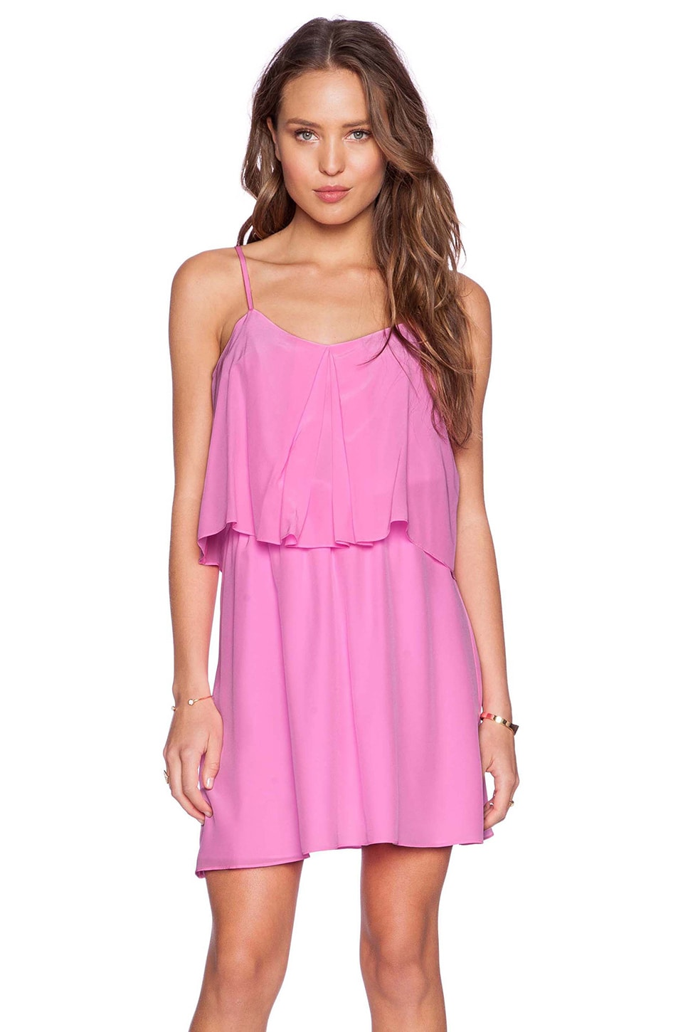 Amanda Uprichard Summer Mini Dress in Shocking Pink