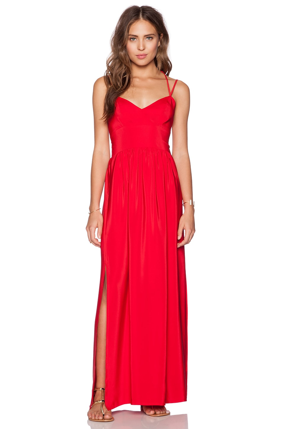 Amanda Uprichard Slit Gown in New Red