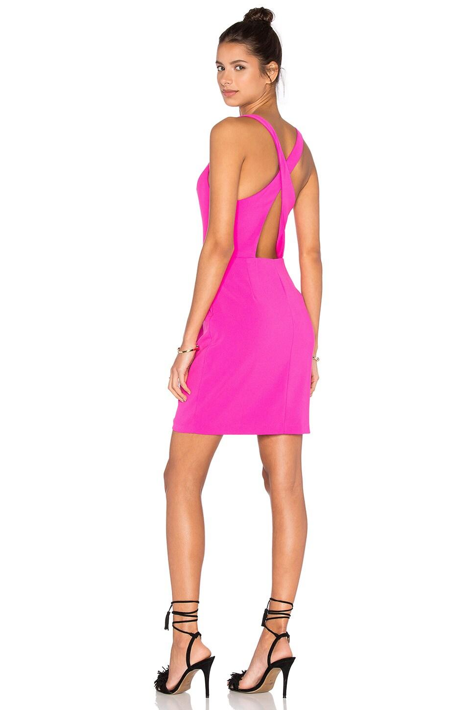 Amanda Uprichard Santiago Dress in Hot Pink