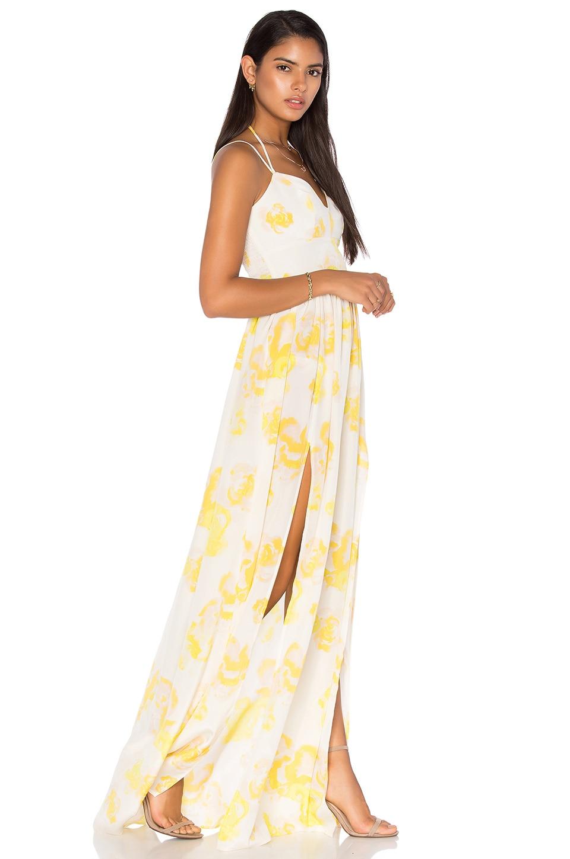 Amanda Uprichard Rio Maxi Dress in Yellow Rose