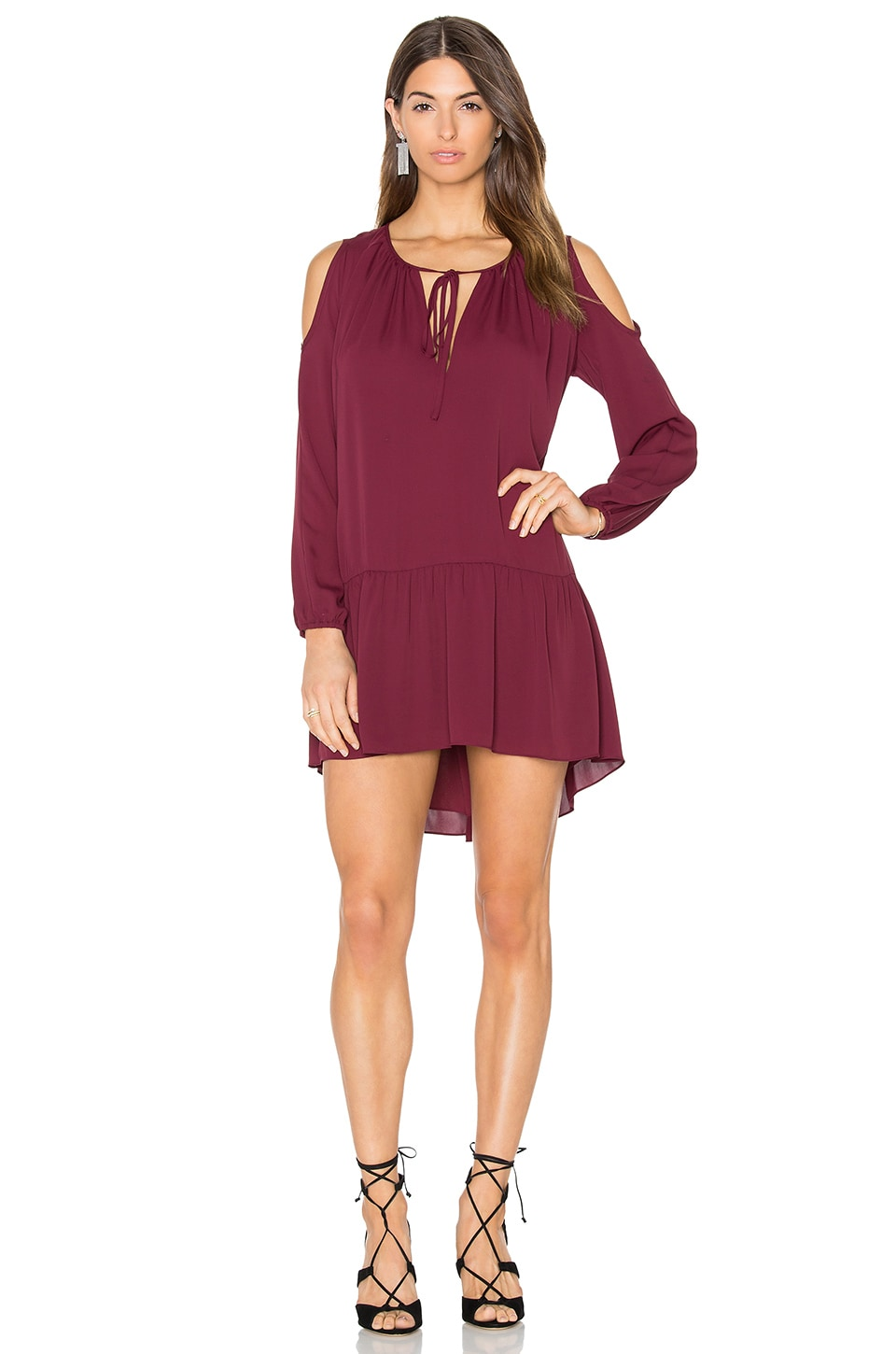 Amanda Uprichard Katherine Dress in Wine