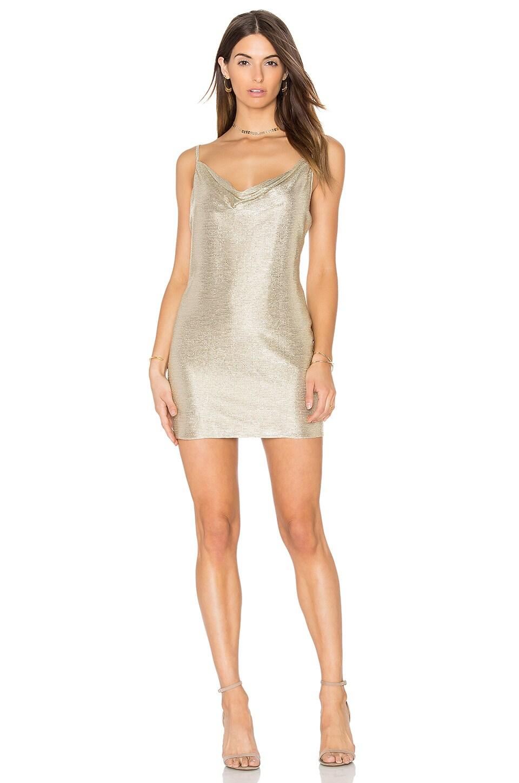 Amanda Uprichard Bowie Dress in Champagne Lurex