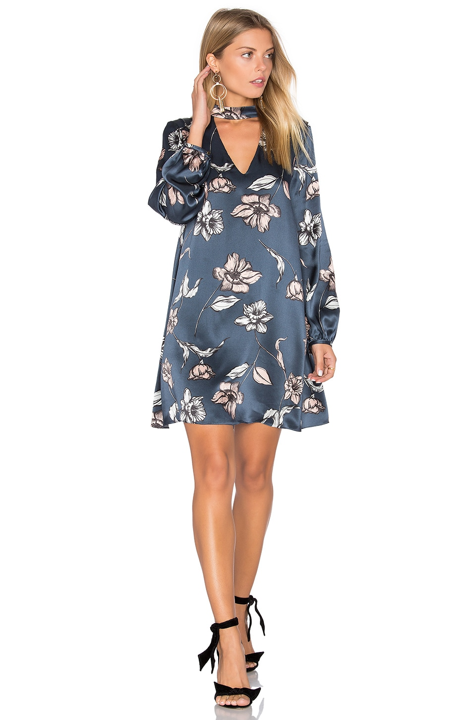 Amanda Uprichard Isla Mini Dress in Painted Oleander