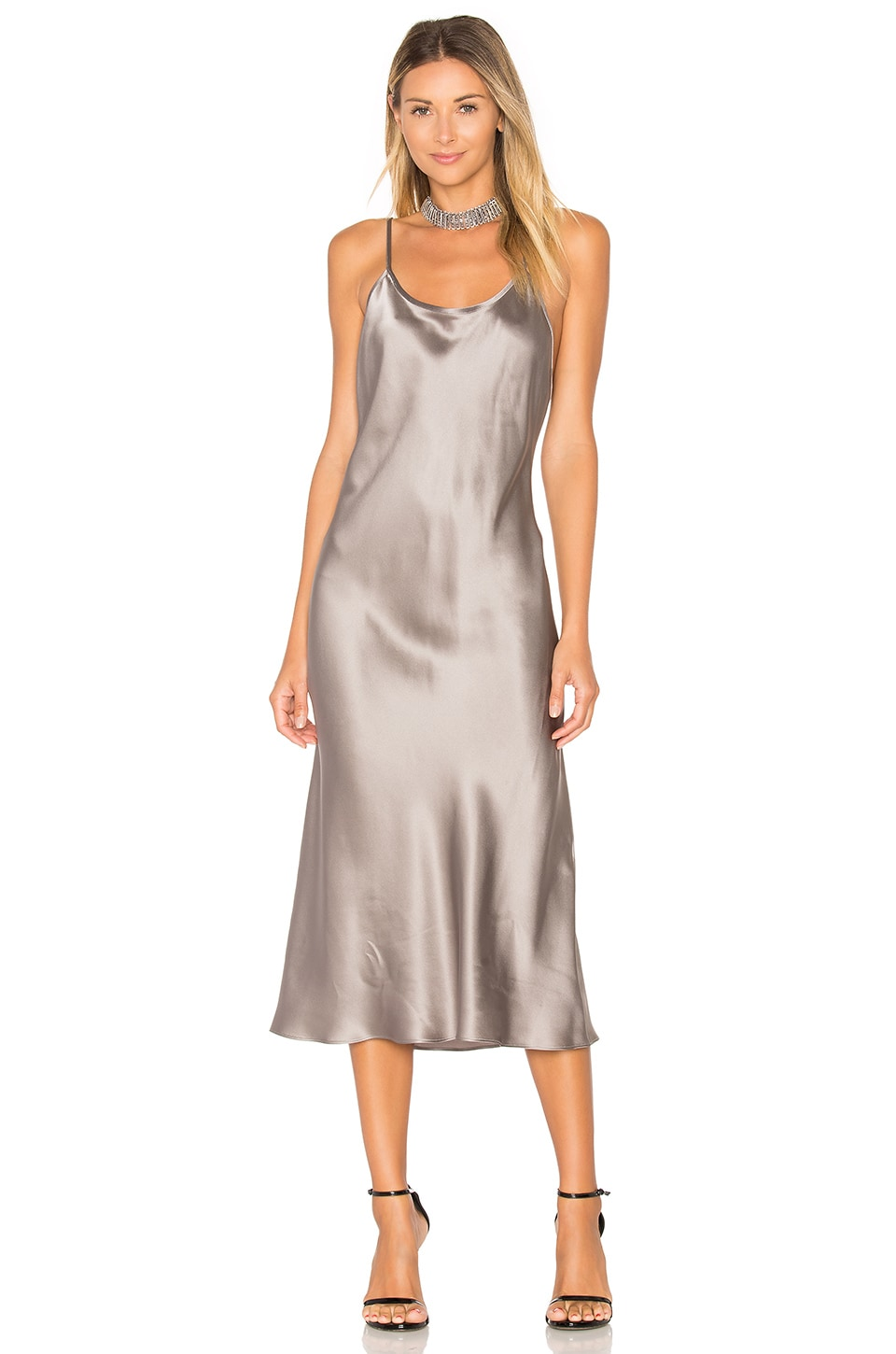 Amanda Uprichard x REVOLVE Slip Dress in Platinum