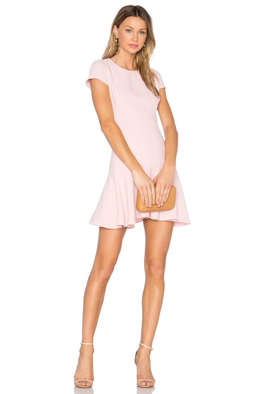 Amanda Uprichard Hudson Dress in Dusty Rose