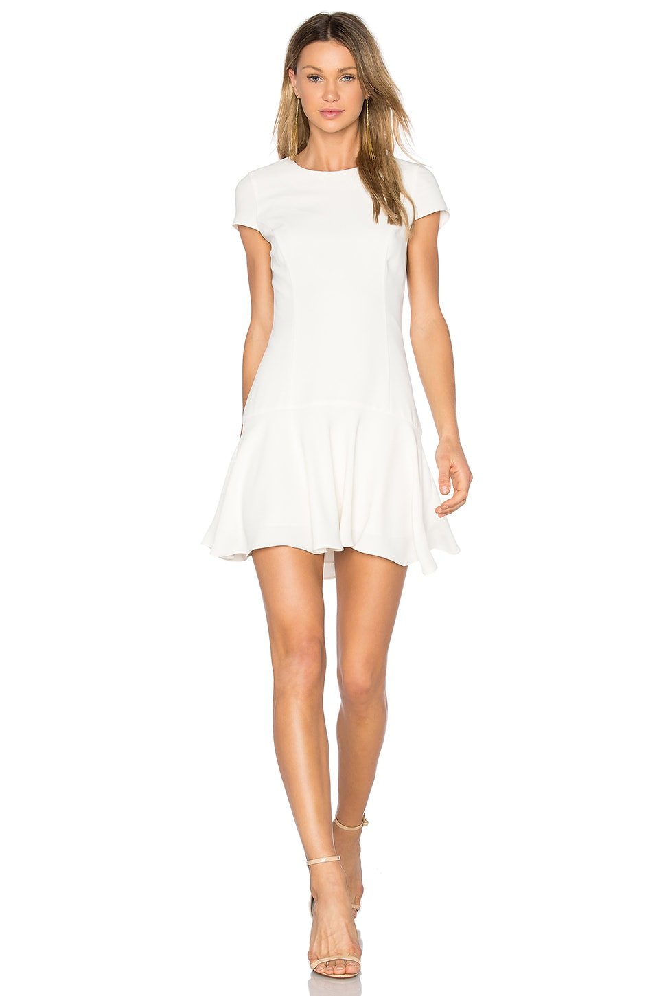 Amanda Uprichard Hudson Dress in Ivory