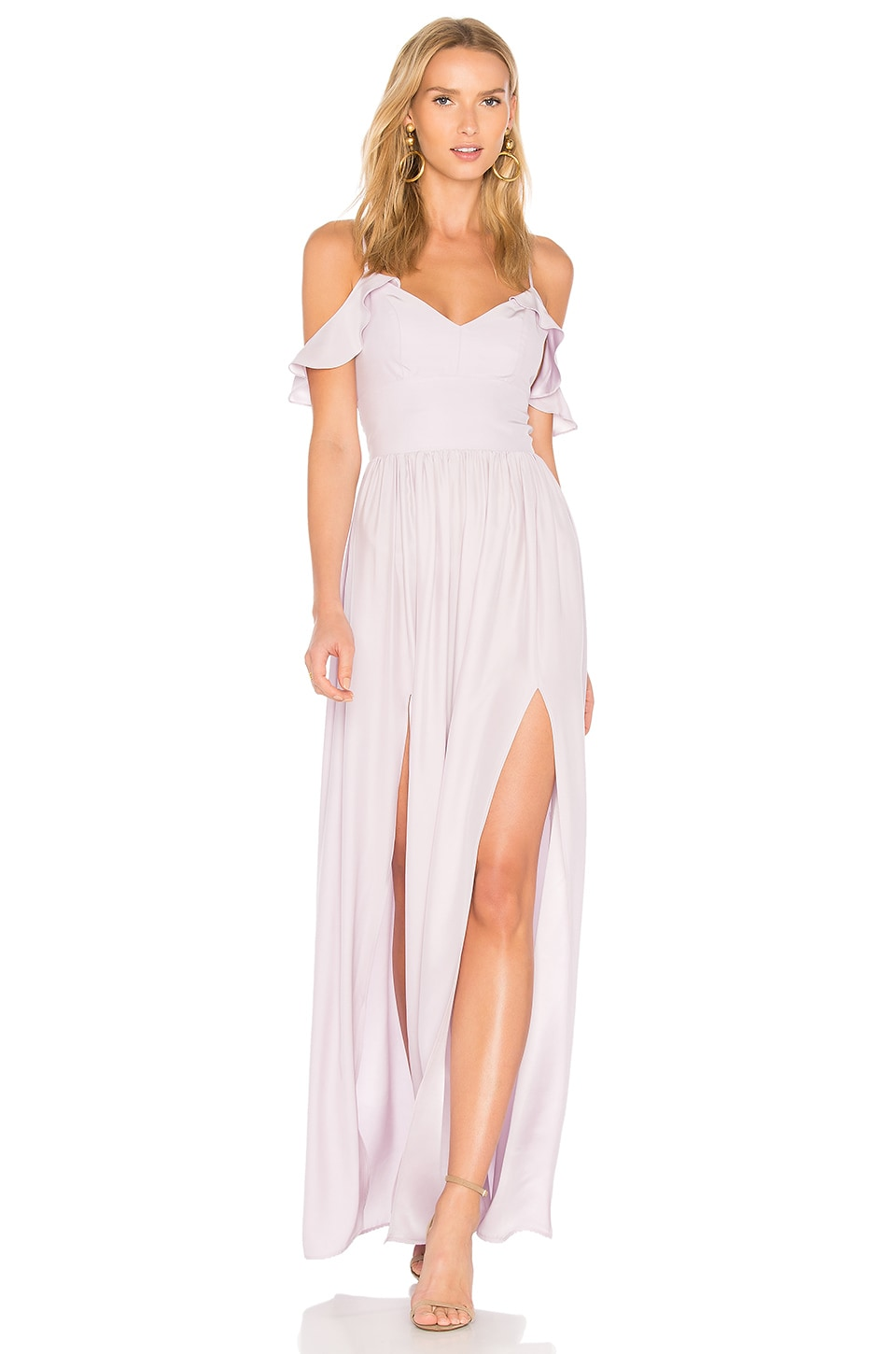 Amanda Uprichard Wren Maxi in Lilac