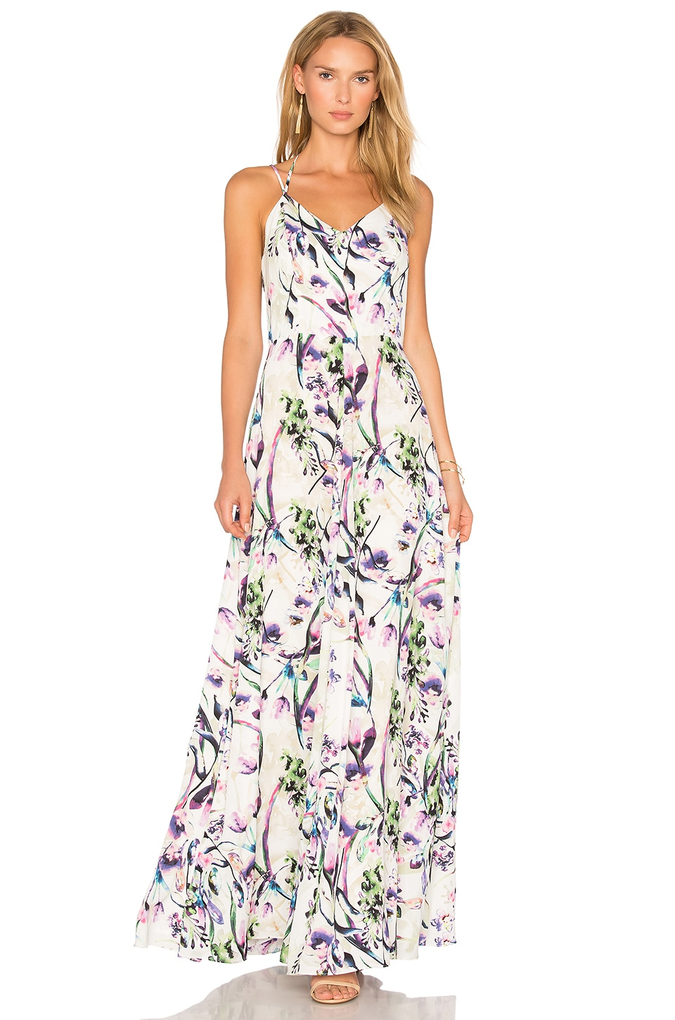 Amanda Uprichard Mallorie Maxi Dress in Orchid