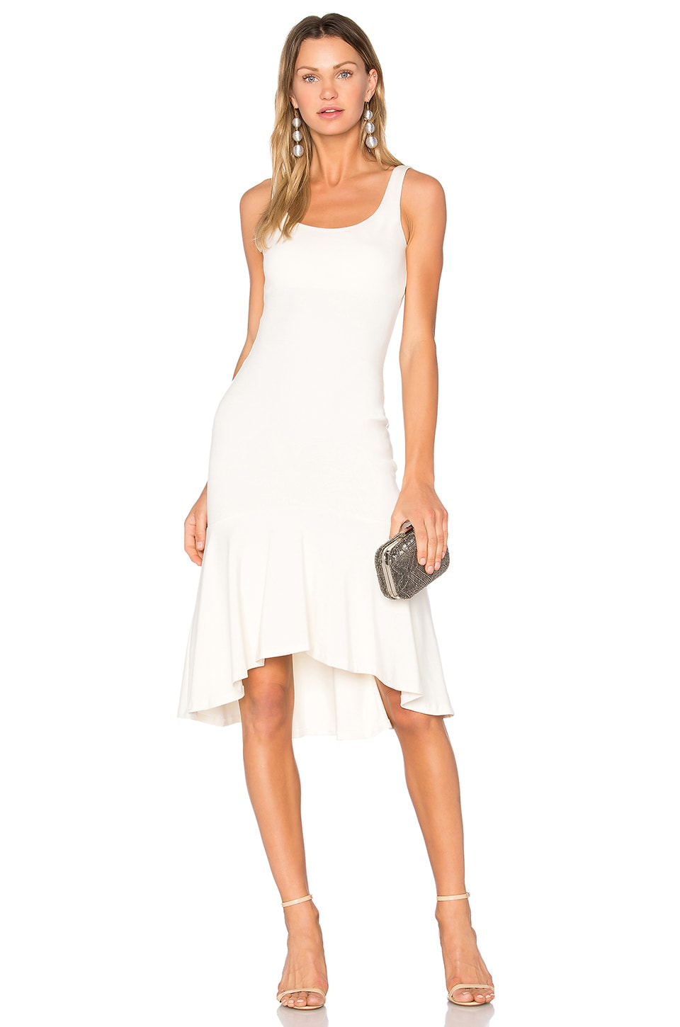 Amanda Uprichard Parker Dress in Ivory