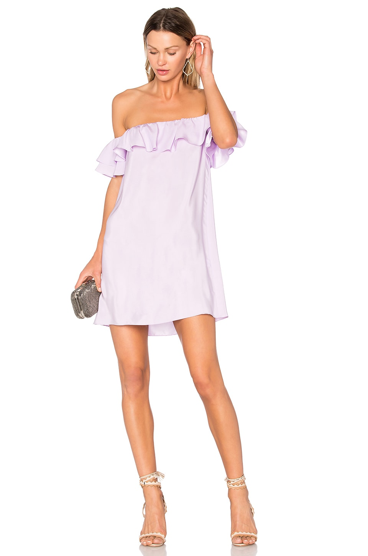 Amanda Uprichard Ethan Dress in Lavender