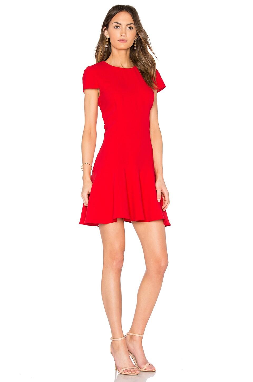 Amanda Uprichard Hudson Dress In Lipstick Modesens