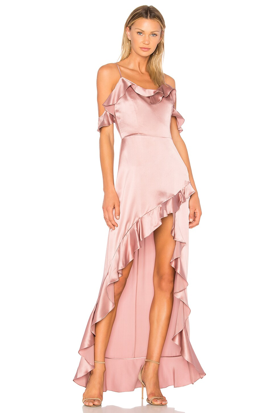 Amanda Uprichard Peony Maxi Dress in Henna