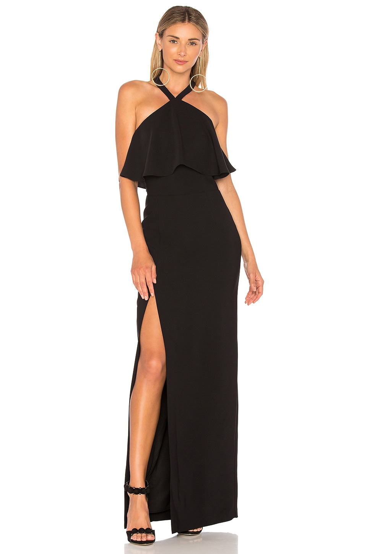 Amanda Uprichard Piazza Maxi Dress in Black