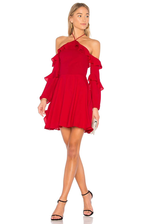 Amanda Uprichard Alma Dress in Scarlet